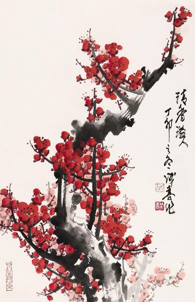 高清壁纸竖版梅花