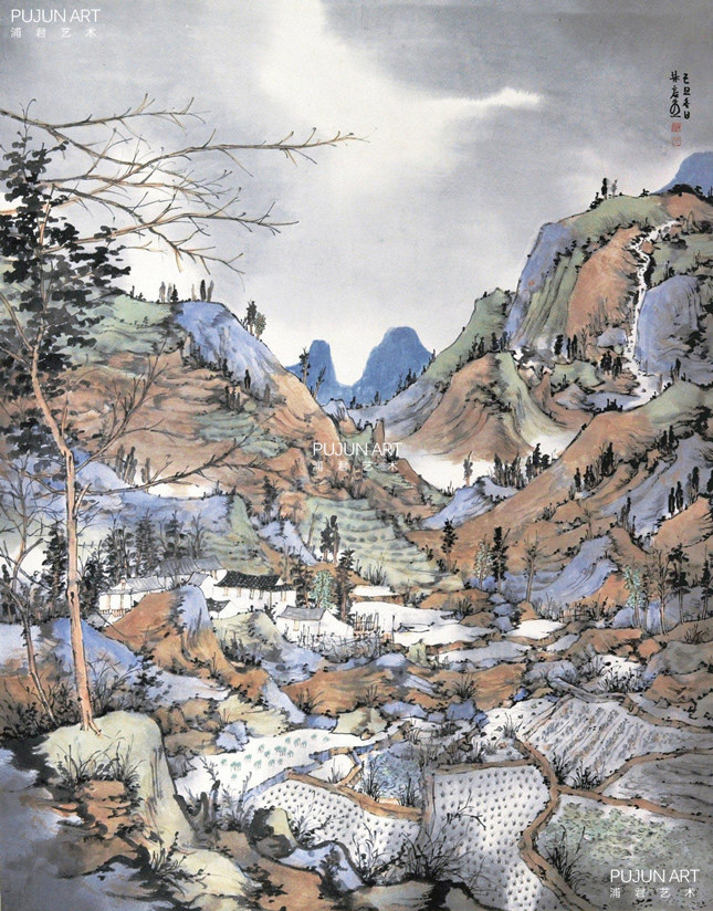 林容生山水画 2009年作 雨季的风景