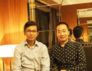 中国美术家协会副主席何家英合影