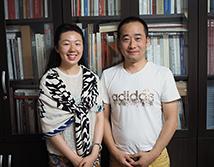 广州画院专职画家李夏夏合影