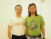 杭州美术家协会副主席何加林合影