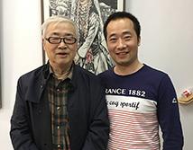 宁夏美术家协会名誉主席胡正伟合影