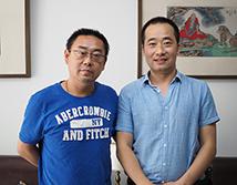 淄博市青年美协副主席曹新刚合影