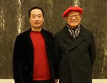 杭州画院院长姜宝林合影
