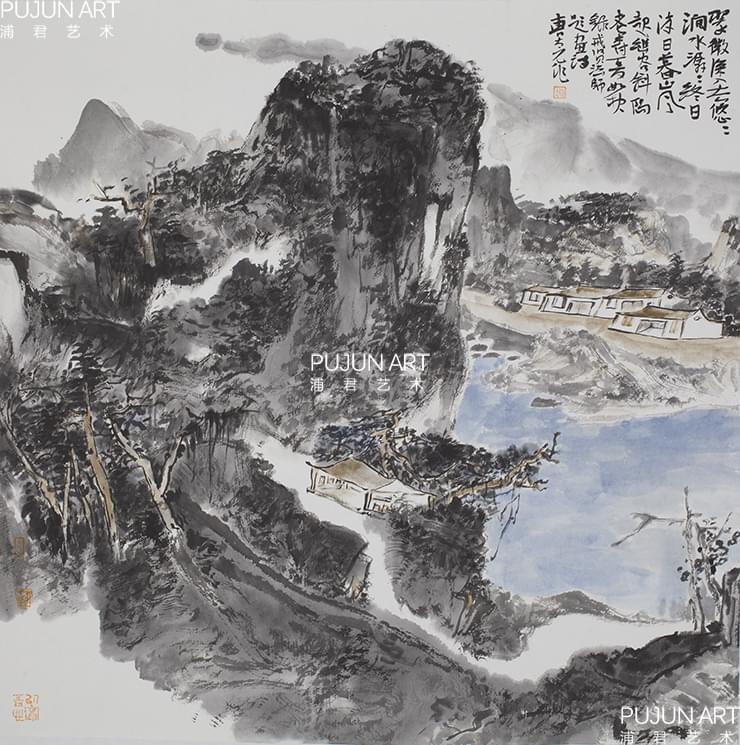 曹新刚山水画1