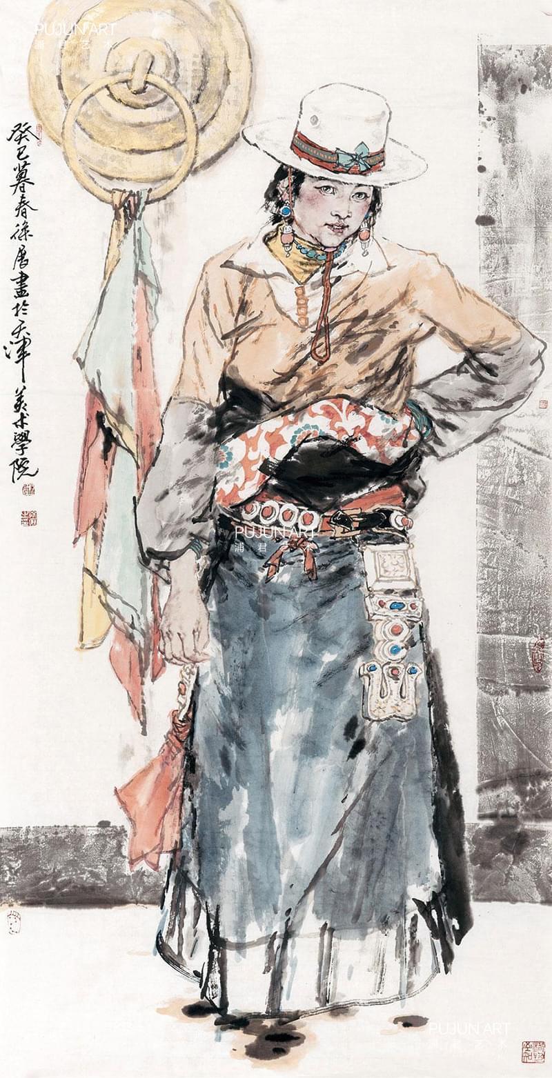 画家徐展作品 藏族人物