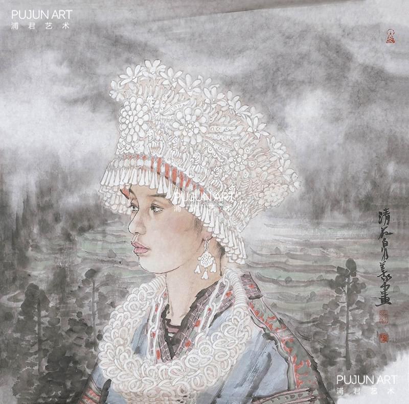 刘泉义作品 苗族少女