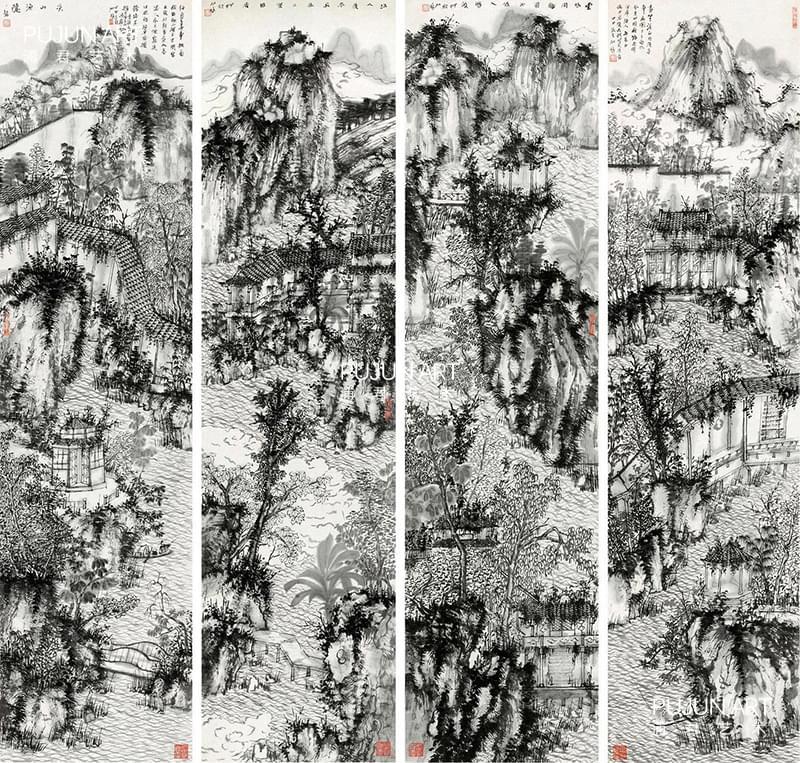 何加林山水画