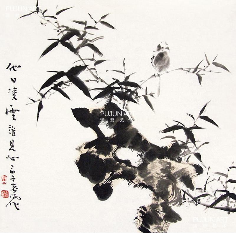 霍春阳2005年作 花鸟