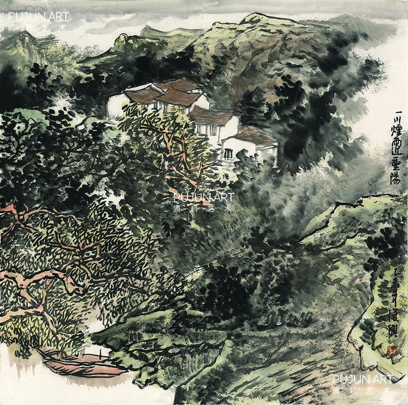 张复兴山水画