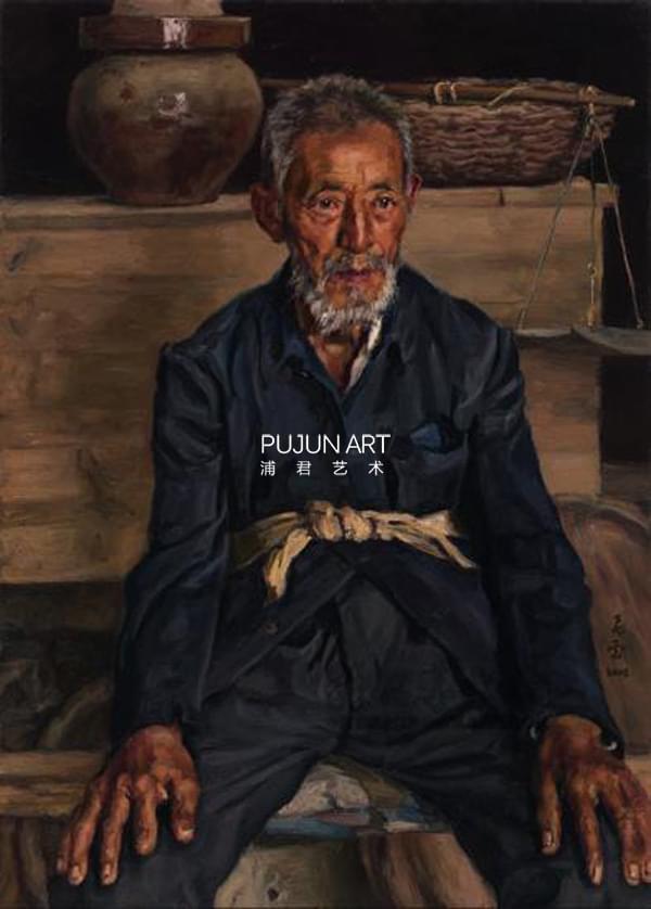 杨飞云油画《《陕北老人》》