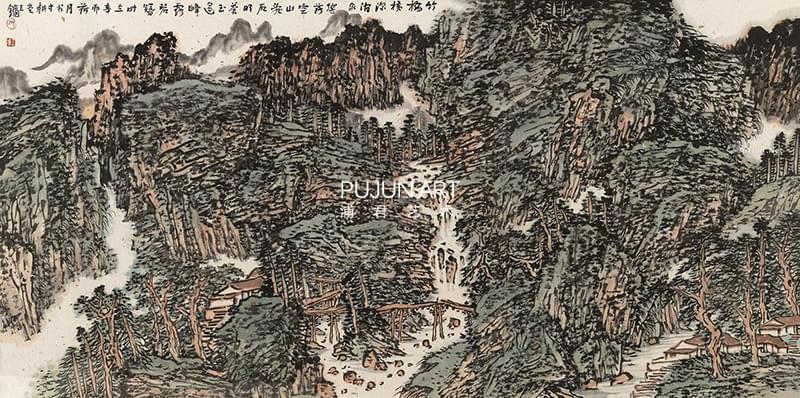 王镛2011年作 空山泉响图