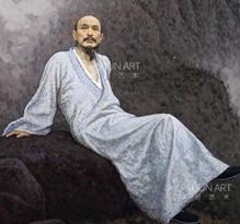 靳尚谊1999年作 髡残 布面 油画