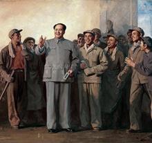 靳尚谊1969年作 毛主席视察上钢三厂 布面 油画