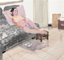 李翔2009年作 人物 镜心 设色纸本