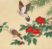 陈佩秋 斑鸠与山茶
