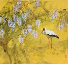 画家王明明作品《春塘清韵》