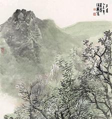 张复兴山水画 三月