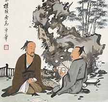 吴宇华人物画 壶觞雅游