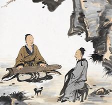 吴宇华人物画2015年作听琴图