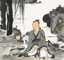 吴宇华2016年作山水人物画云林雅游
