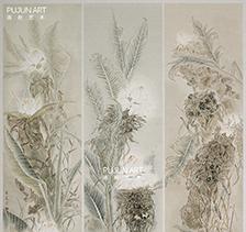 画家李夏夏2008年作品《碧华清韵》