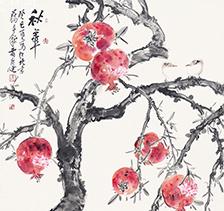 贾广健2013年作 秋华