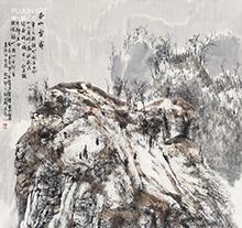 白云乡山水画作品2