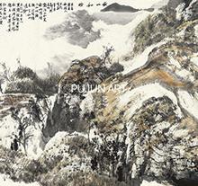 白云乡山水画作品4