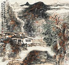 程振国山水画2