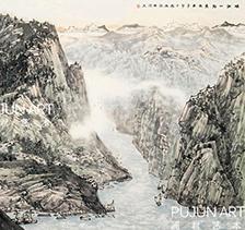 程振国山水画4