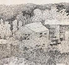 刘牧山水画