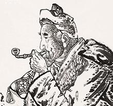 刘文西作品 黄土地的老人