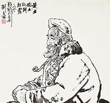 刘文西作品 黄土地上的耕耘者