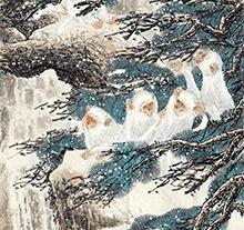 徐培晨作品 雪猴