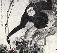 周午生作品 长臂猿