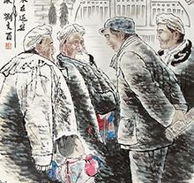 刘文西1995年作 毛泽东在延安