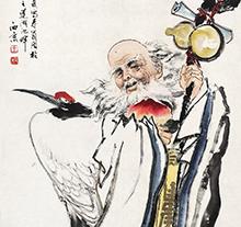 王西京1981年作 大寿图 立轴