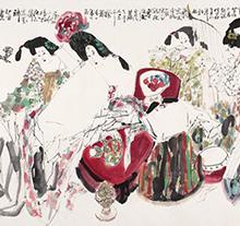 王西京2010年作 玉楼春醉图