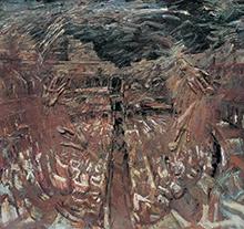 许江1998年作 世纪之弈·围城之二