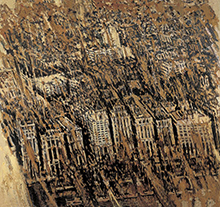 许江2002年作 大上海·浦江远眺