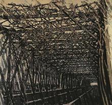 许江2002年作 蓝桥