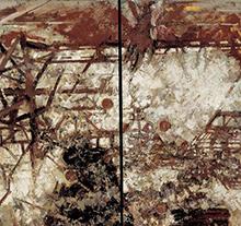 许江油画作品 世纪之弈-机器之网