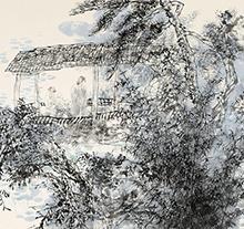 王明明2002年作 东坡承天夜游