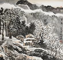 张复兴山水画 雪意