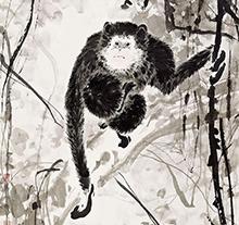 周午生作品 猿