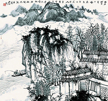 何加林山水画作品