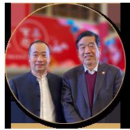 浦君艺术创始人胡桂忠与苏士澍先生合影