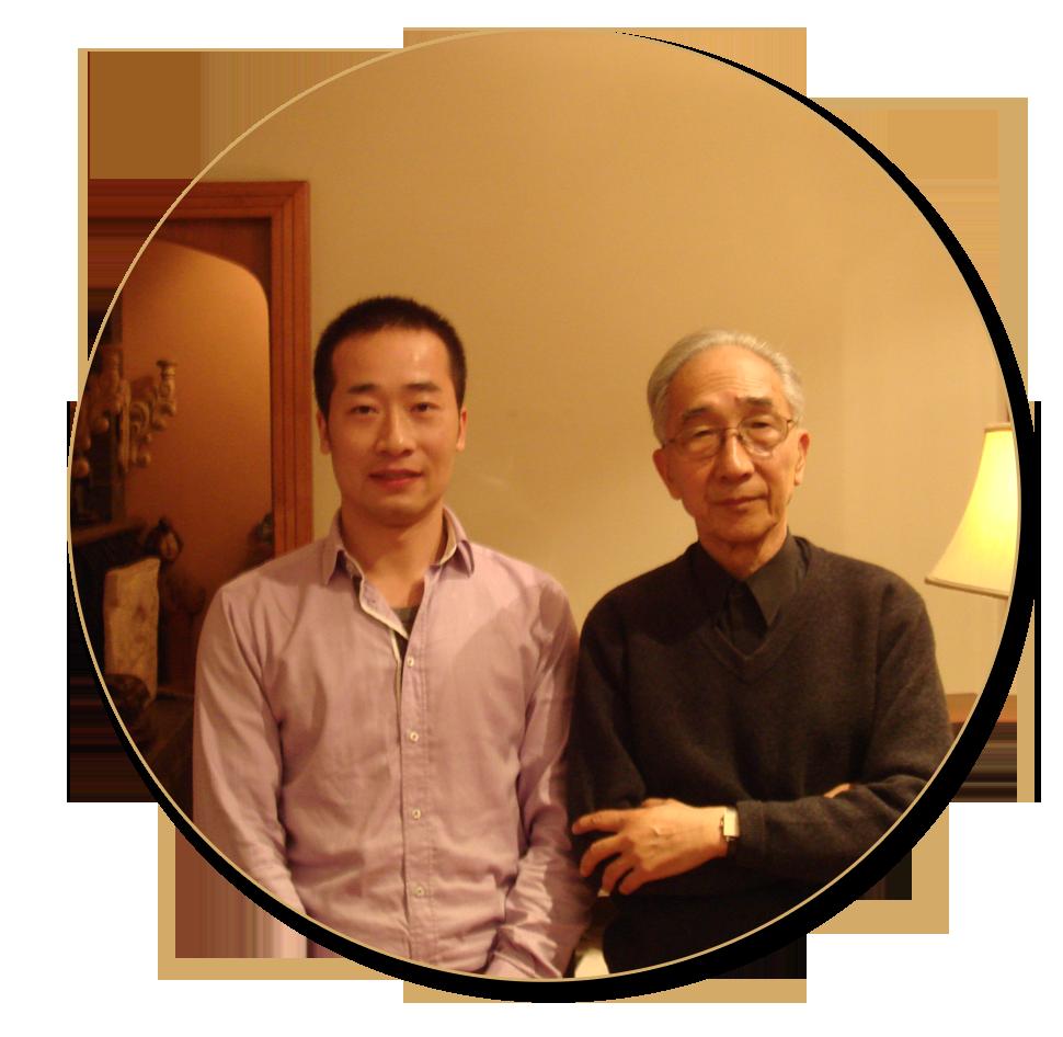 浦君艺术创始人胡桂忠与中国美协名誉主席靳尚谊先生合影