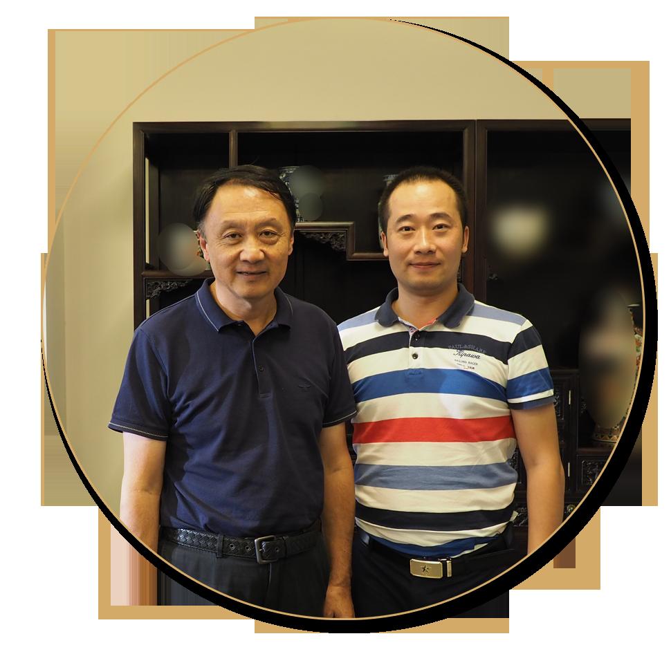 浦君艺术胡桂忠与中国美术家协会副主席王明明先生合影